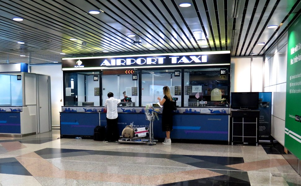 Taxi ticket counters at Arrival Hall