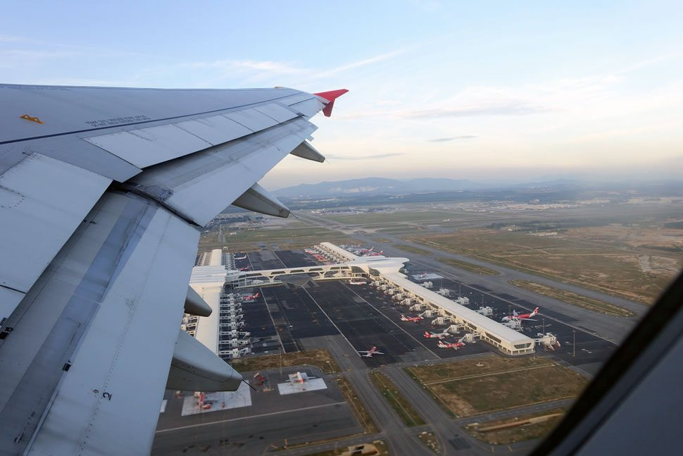 Aerial view of klia2