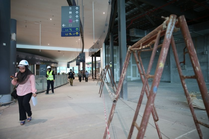 klia2, Construction picture as at 4 March 2014