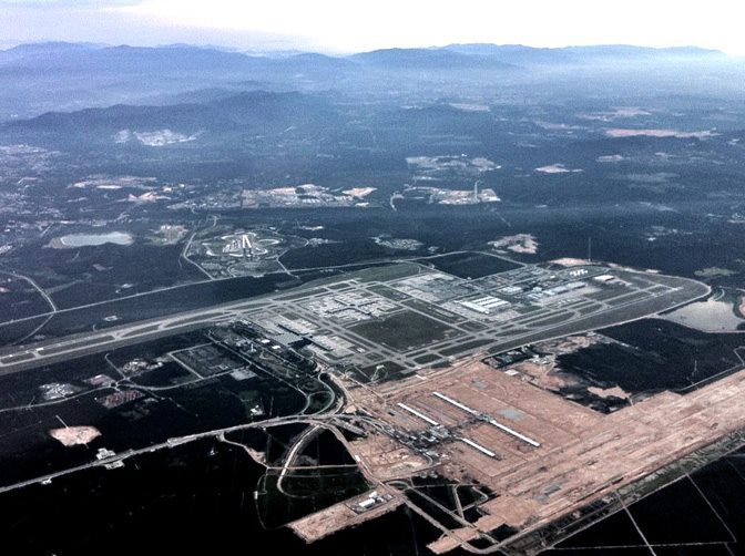 Aerial view of klia2 construction site, 1 May 2012