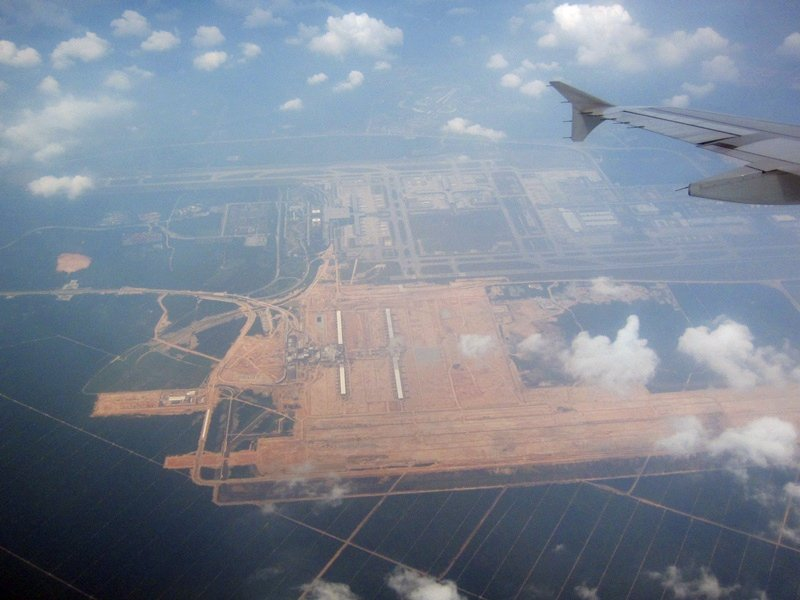 Aerial view of klia2 construction site, 2 May 2012