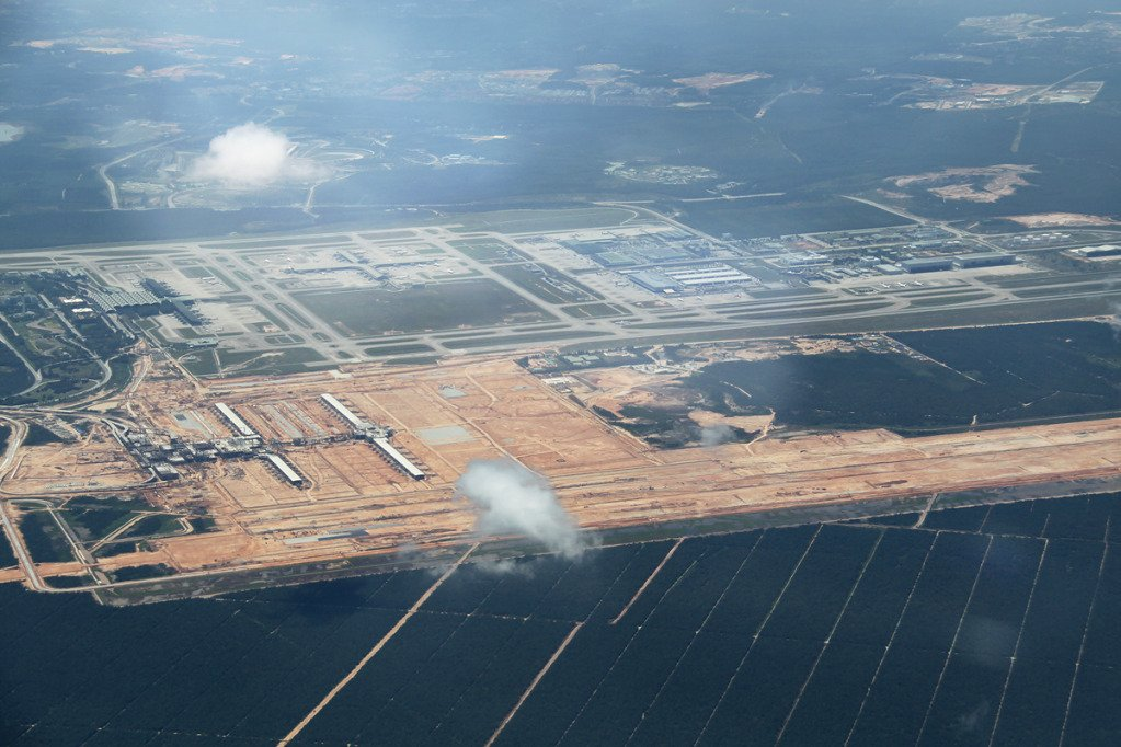 Aerial view of klia2 construction site, 11 June 2012