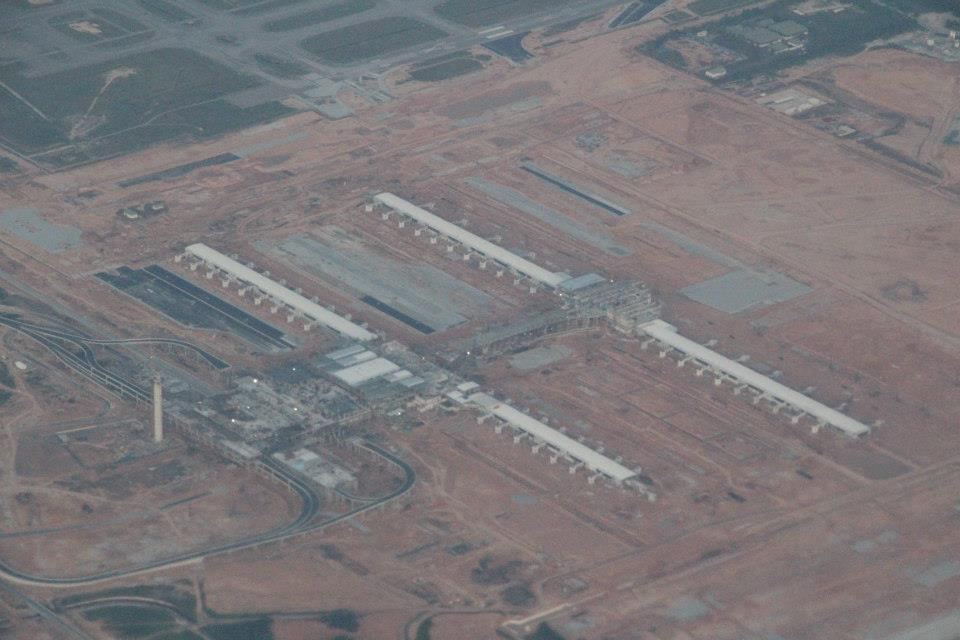Aerial view of klia2 construction site, 3 Oct 2012