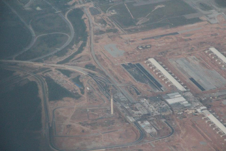 Aerial view of klia2 construction site, 7 Oct 2012