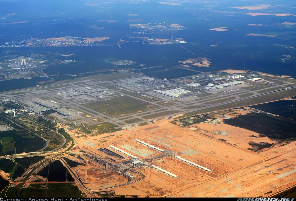 Aerial view of klia2 construction site, 15 Oct 2012