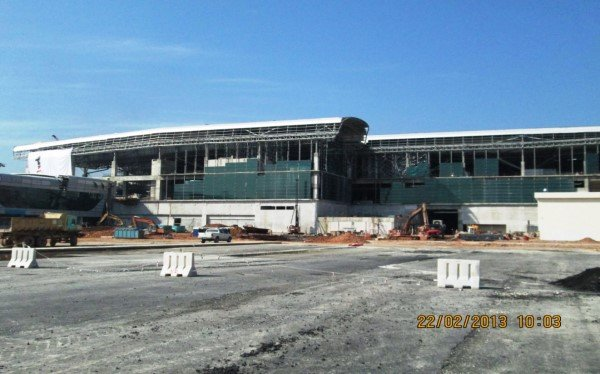 klia2, Construction update as at 22 Feb 2013