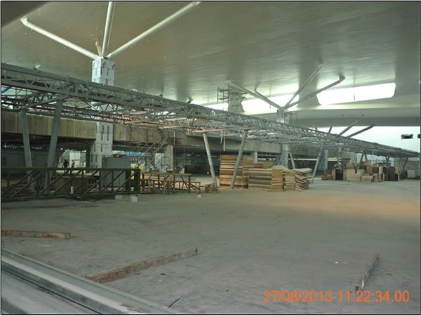 klia2, Construction update as at 27 August 2013