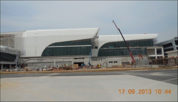 klia2, Construction update as at 24 September 2013