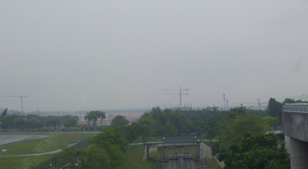 Remote view of klia2 work site, 2011