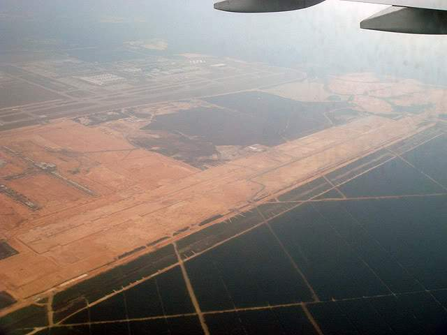 Aerial view of klia2 construction site, 27 July 2011