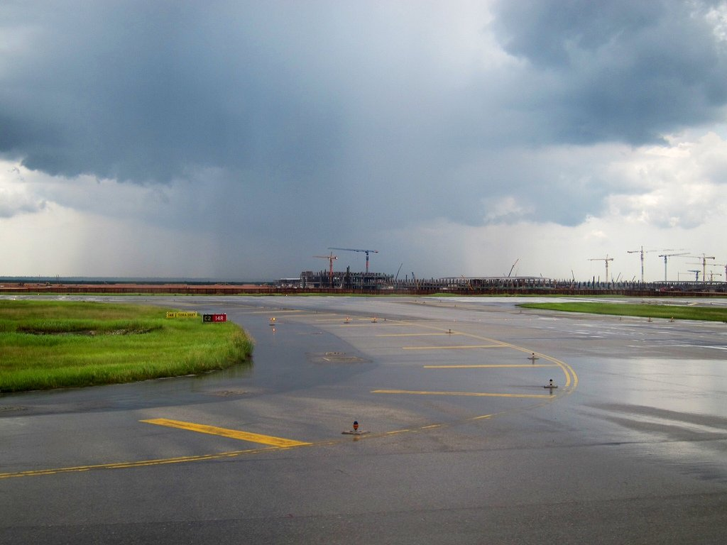 View of klia2 construction site from KLIA runway, 4 Nov 2011
