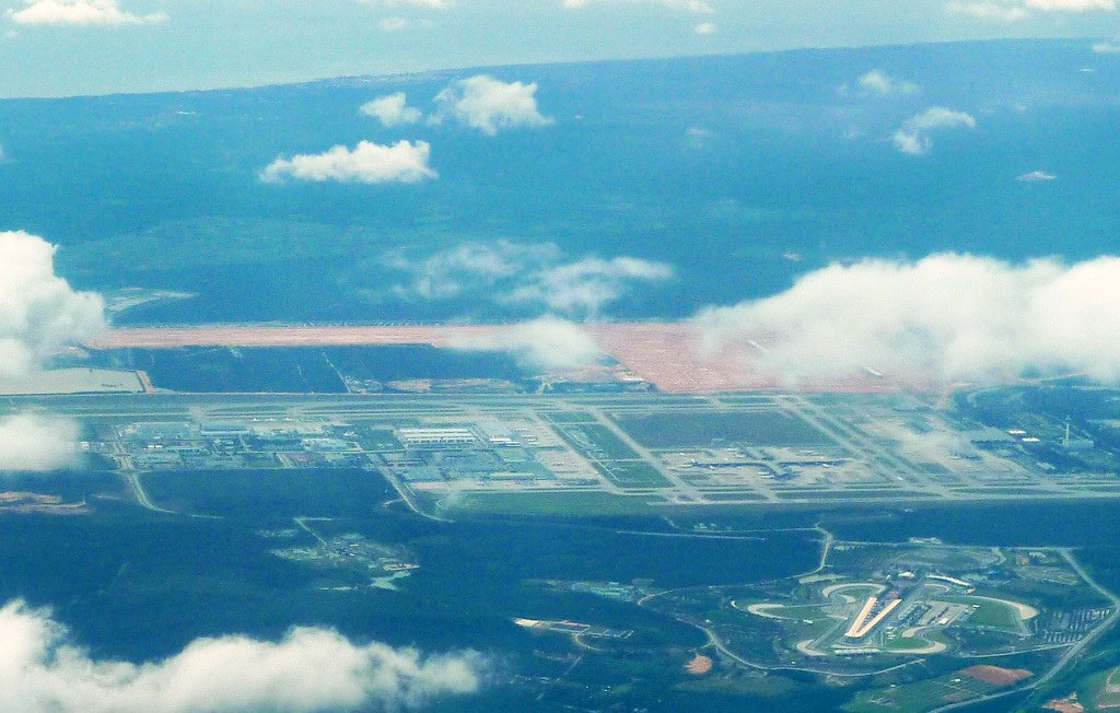 Aerial view of klia2 work site and surrounding areas, 22 Nov 2011
