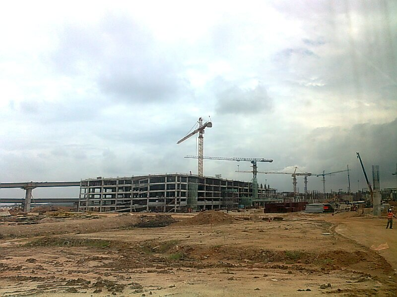 Car park construction update, 30 Jan 2012