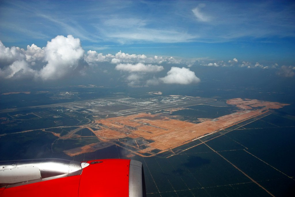 Aerial view of klia2 construction site, 8 Feb 2012