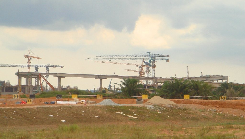 Road work leading to klia2 terminal, 19 Feb 2012