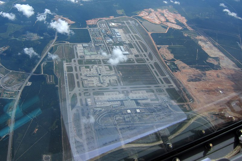Aerial view of klia2's construction site, 2 Jan 2011