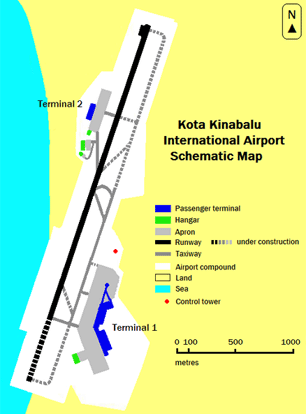 Layout of Kota Kinabalu International Airport