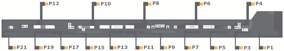 List of gates at klia2 Pier P