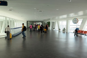 Walking on the Skybridge on Level 3
