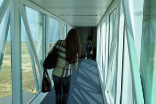 Walking on the aerobridge