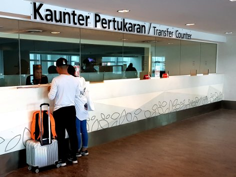 Transfer Counter at the Main Terminal Building