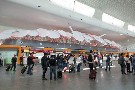 Check-in counters, Departure Hall