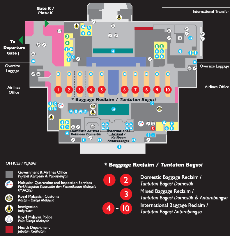 Sector 2, Arrivals, Level 2, Arrival Hall