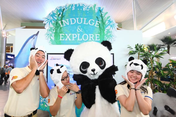 Panda-mania: Malaysia Airports launches the 'Indulge and Explore' campaign