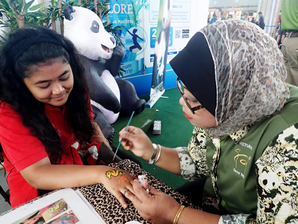 The two-day event aimed to raise public awareness on wildlife conservation in Malaysia