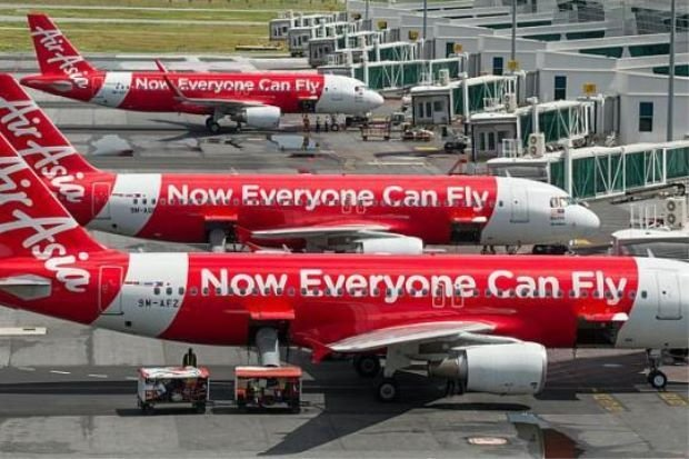 AirAsia's flights waiting at klia2