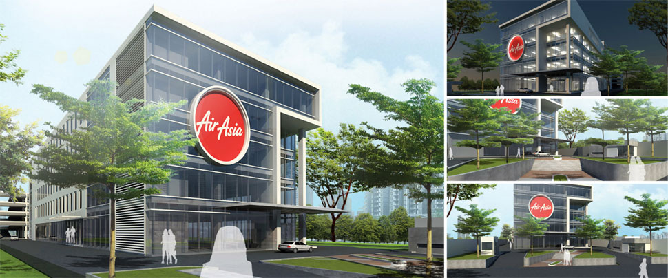 Artist impression: New AirAsia Headquaters at klia2