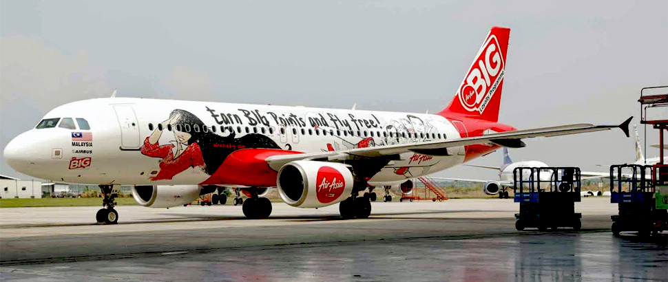 The BIG plane made history when it became the first AirAsia plane to land in klia2