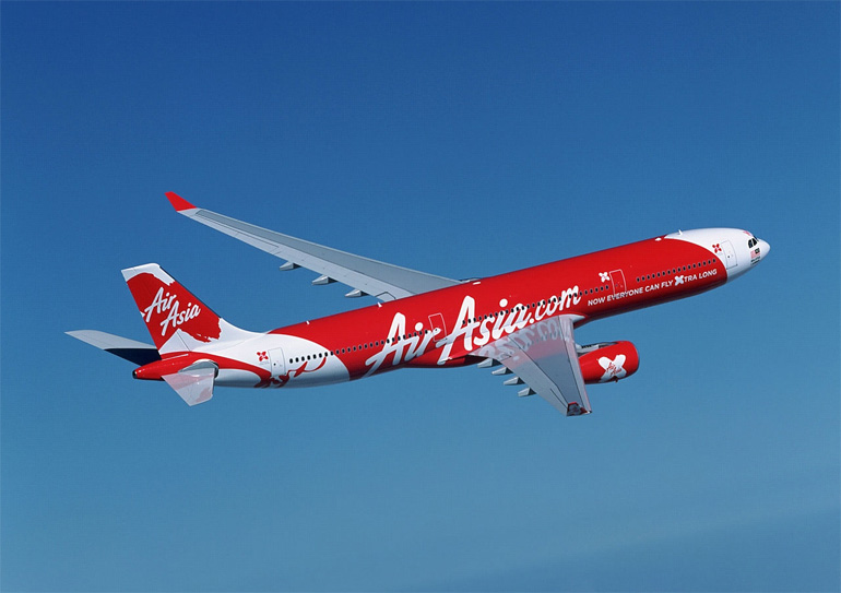 AirAsia on the sky