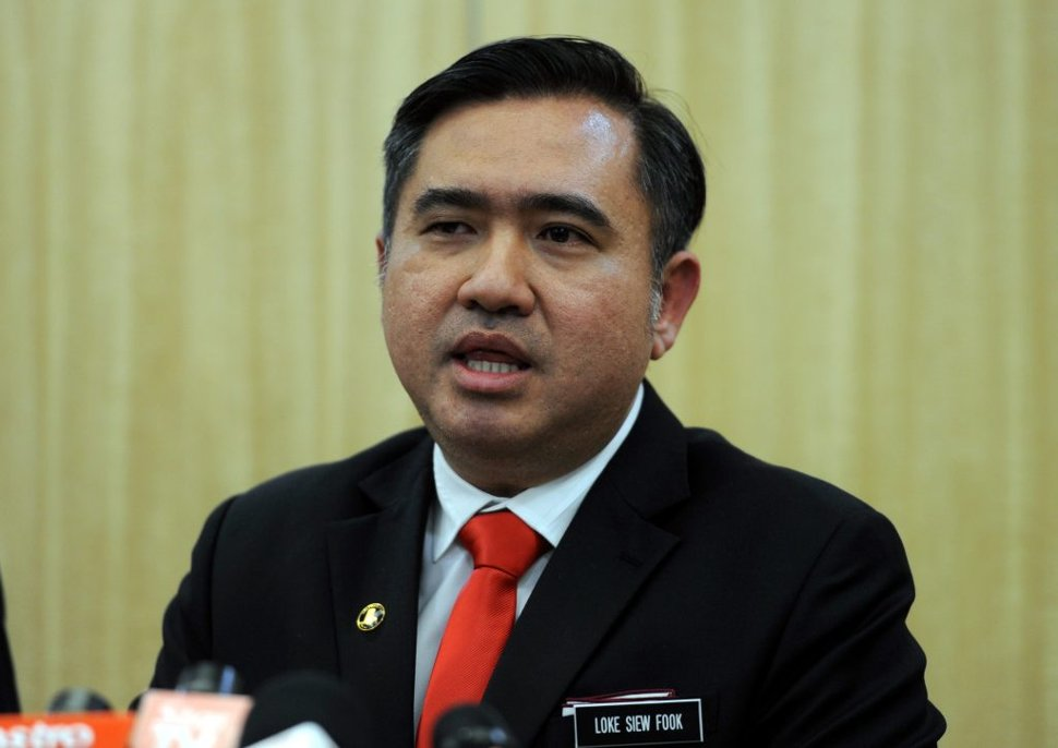 Transport Minister (MoT) Anthony Loke (picture)