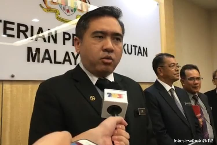 Transport Minister Anthony Loke