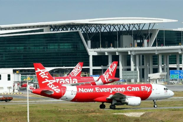 An AirAsia aircraft is seen at klia2 in this August 2014 file photo.