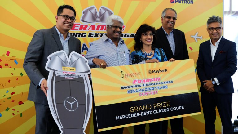 Jayarajan Rathinasamy, a certified public accountant from Kuala Lumpur, also walked away with a Mercedes Benz CLA200 Coupe AMG. He made a purchase with his Maybank Visa Infinite credit card at the Eraman Duty Free outlet at the KLIA main terminal.