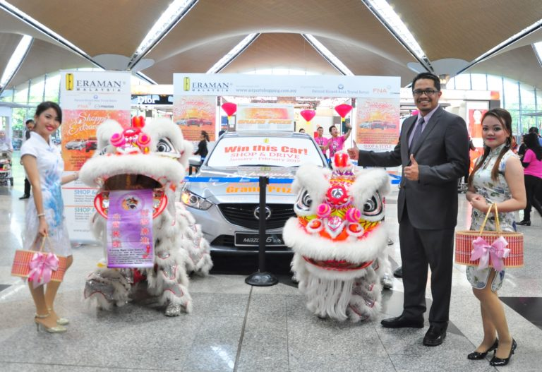 Eraman General Manager Zulhikam Ahmad launches the latest phase of the company's Shopping Extravaganza campaign; the year-long promotion helped buoy sales during 2016, reported parent company Malaysia Airports