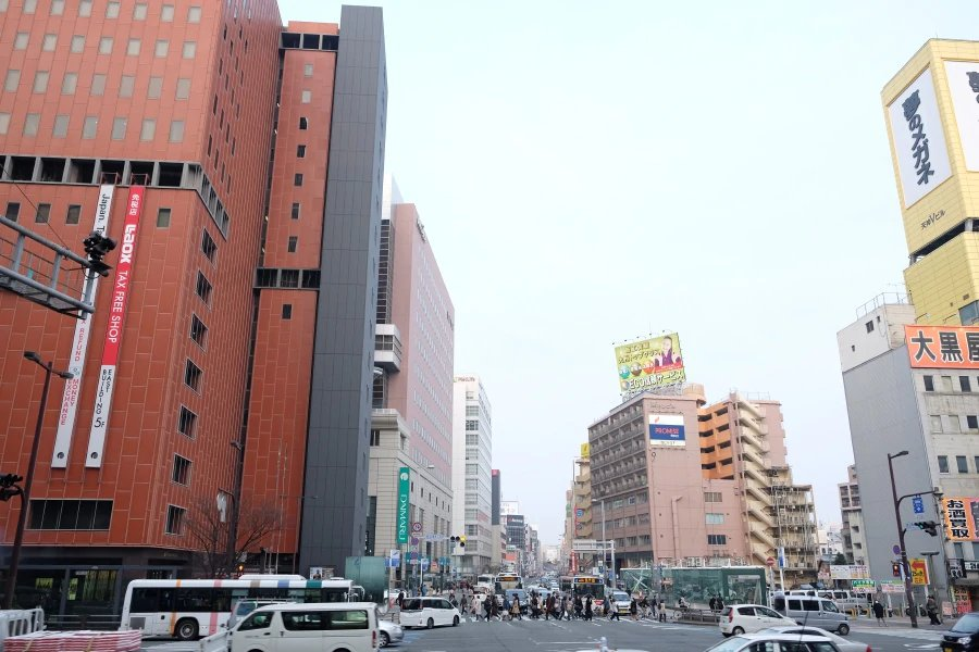Fukuoka city, busy and hectic.
