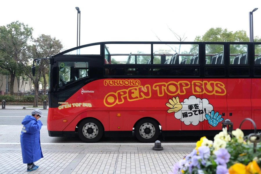 Hop on the Open Top Bus for interesting sights ofthe city