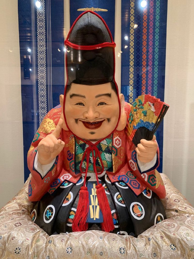 Fuku No Kami, the God of Good Fortune doll is one of the traditional motifs of Hakata Ningyo.
