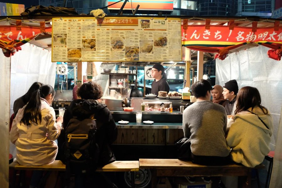 Experience the Japanese street food, known as Yatai.