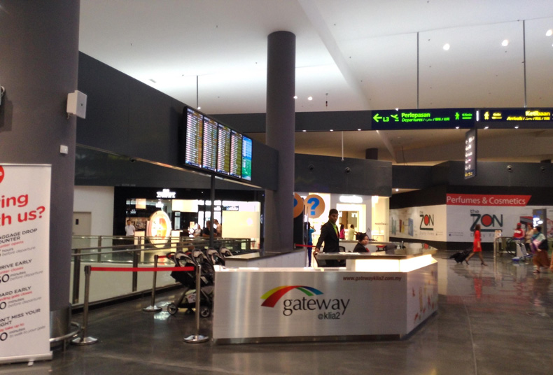 Gateway@klia2 customer service counter