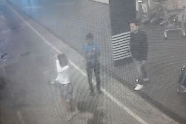 CCTV footage showing the suspected female assassin at the KLIA2 taxi lane.