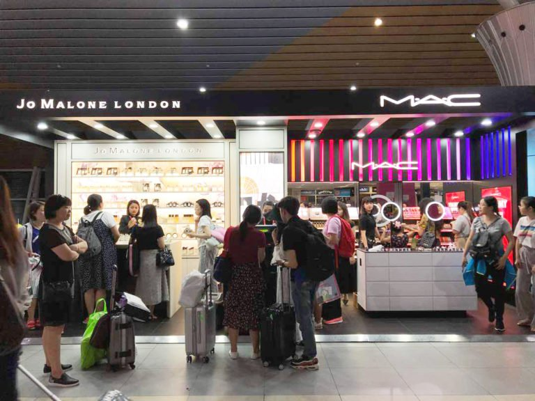 he four Estée Lauder brands are highly prized by Chinese visitors, who are growing rapidly in number at Kota Kinabalu Airport, aided by strong air links