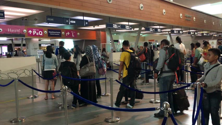 Immigrations check at klia2