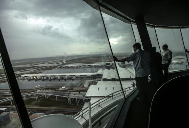 A view of klia2 from the air traffic control tower of KLIA on 24 April. The new low-cost carrier terminal opened today and is expected to handle around 25,000 passengers daily.