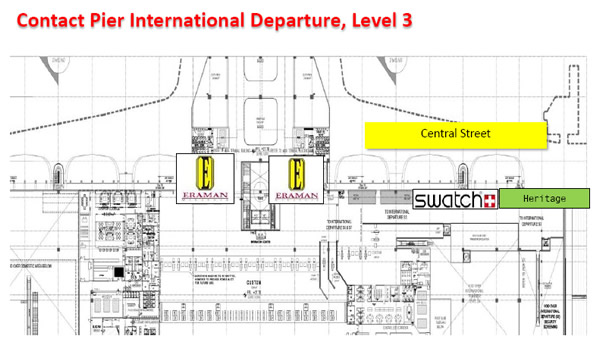 Shops at klia2, Contact Pier International Departure, Level 3