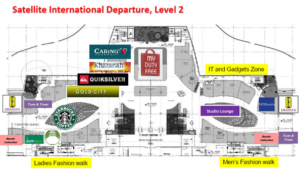 Shops at klia2, Satellite International Departure, Level 2
