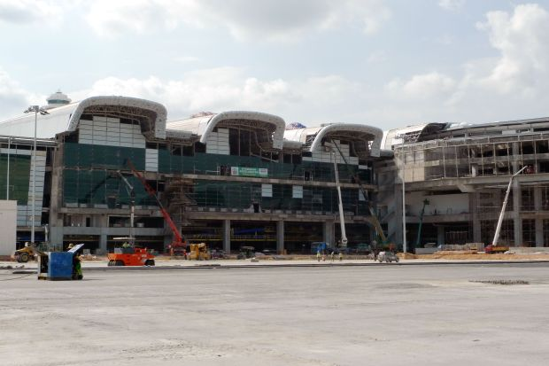 Part of the incomplete klia2 main terminal.